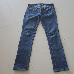 Blue jeans low rise skinny